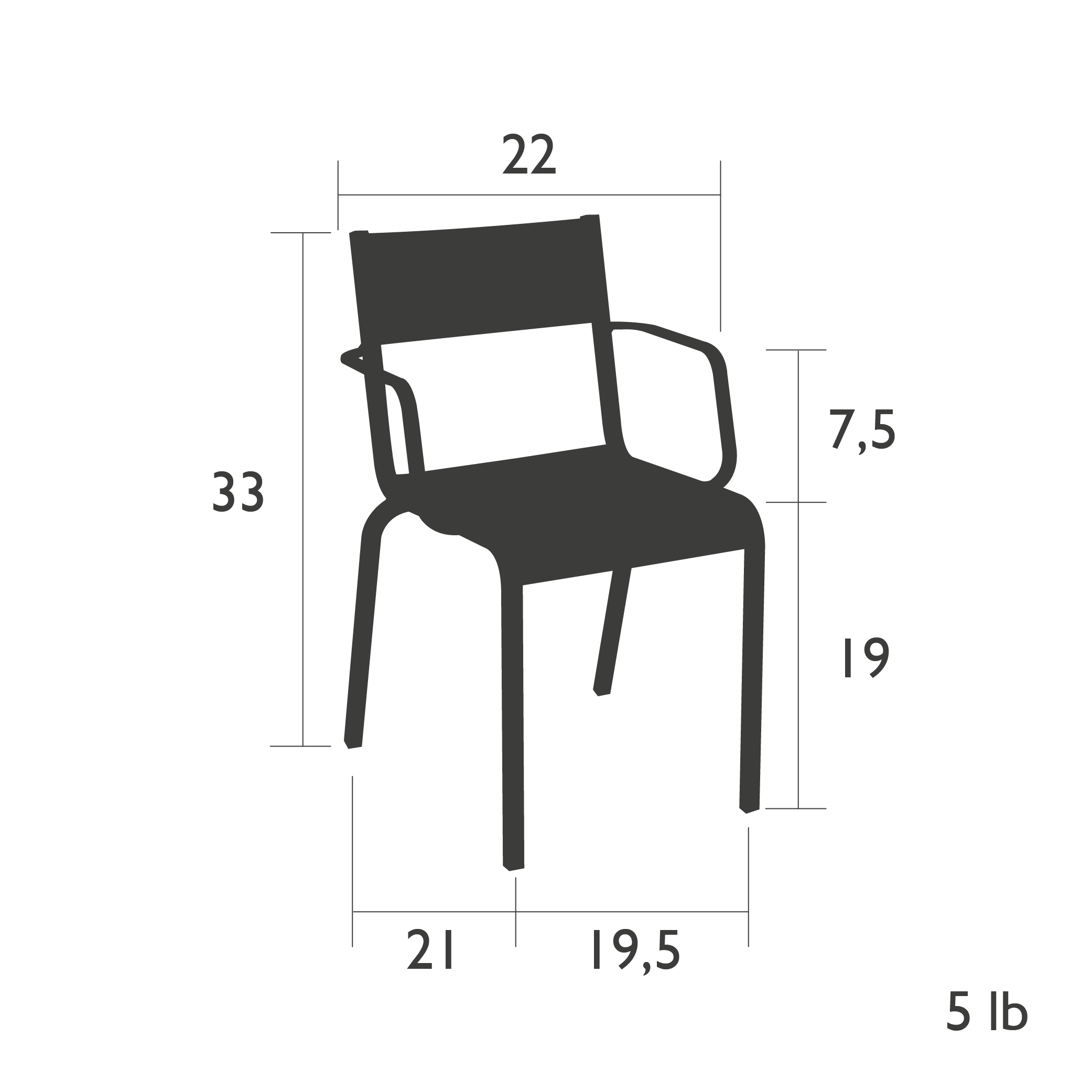 Oleron Armchair Technical Specifications